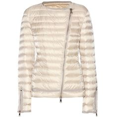 Moncler Amey Down Jacket ($835) ❤ liked on Polyvore featuring outerwear, jackets, neutrals, moncler, pink down jacket, down jacket, moncler jackets and pink jacket