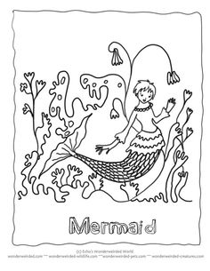 Mermaid Coloring PAges Book Echos Pictures For Underwater Pages Collection At