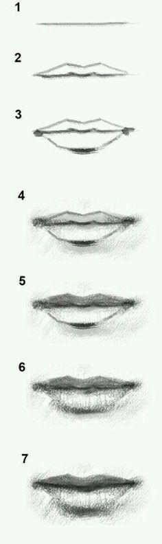 طريقة رسم الشفايف