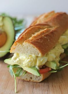 A classic egg salad sandwich gets a slight alteration with the use of Greek yogurt to reduce the amount of mayonnaise used.  Get the recipe at Damn Delicious.