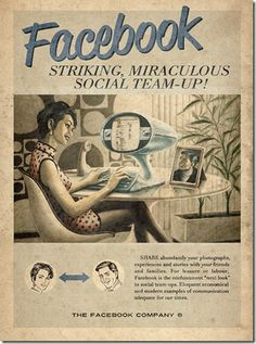 FACEBOOK: La agencia MOMA en Sao Paulo BR, creó anuncios al estilo de los diseños de años 50, para las redes sociales actuales.