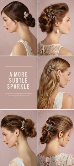subtle sparkle. pretty pins for a bride.