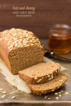 Oats and Honey Whole Wheat Bread - say goodbye to boring whole wheat bread! This version is light and tender, slightly sweet, and packed wit...