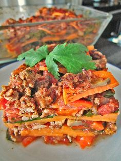 Mexican sweet potato pie with ground chicken