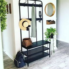 Coat Rack Bench, Coat Hanger, House Goals, Entryway Decor, Wardrobe Rack, Farmhouse Decor, Ikea, New Homes, Living Room