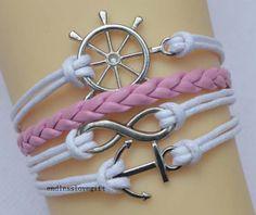 Infinity bracelet anchor bracelet the rudder by endlesslovegift, $5.75