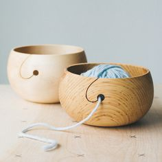 Wood Yarn Bowl – twigandhorn.com More