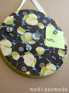 Burner Cover Memo Board - 150 Dollar Store Organizing Ideas and Projects for the Entire Home