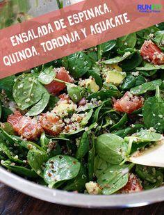 RUNFIT » Ensalada de espinaca, quinoa, toronja y aguacate