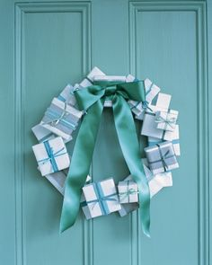 Present Wreath via Martha Stewart.  Would make a cute advent calendar too.