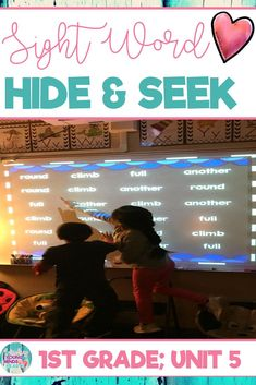 Movement, intrigue, suspense, and technology-based = sight word practice made for today's students. Keep your students engaged and motivated while they practice reading high-frequency words in this game of Hide and Seek. It can be played in a multitude of