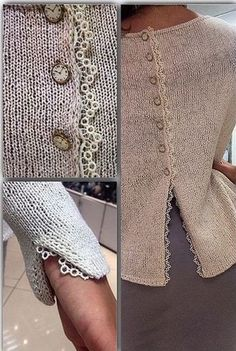 knitting and decorations Knitting Stitches, Knitting Designs, Hand Knitting, Knitting Machine, Crochet Clothes, Diy Clothes, Knit Fashion, Dressmaking, Knitting Patterns