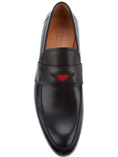 9ad982c2f76 Gucci - Black Leather Loafers for Men - Lyst