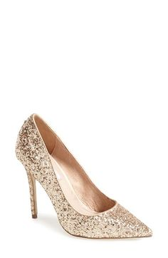 JUST BOUGHT THESE FOR MY ENGAGEMENT PARTY!!!  Women's Steve Madden 'Atlantyc' Glitter Pump