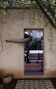 """loveisspeed.......: Home of sculptor Jean-Francois Furth in Marrakech ... Sculptor Jean-Francois Furth lives between Paris, Madrid and Marrakech. In this riad was for him a kind of refuge, an oasis of calm. Back in 1994, Jean-Francois parents have bought a piece of land. """"It was an abandoned village, solid ruins. I decided to rebuild it to make it to invite friends, """"- he said. So there was an estate Dar el Sadaka."""