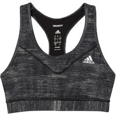 adidas Techfit Sports Bra ($20) ❤ liked on Polyvore featuring activewear, sports bras, undergarments, adidas sports bra, adidas, adidas sportswear and adidas activewear