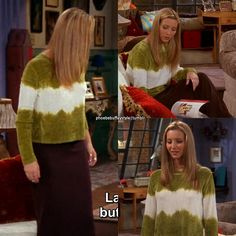 "- ""The One with the Dirty Girl"" Nineties Fashion, Fashion Tv, Fashion Killa, Fashion Outfits, Friends Phoebe, Friends Tv, Phoebe Buffay, Funky Outfits, Cool Outfits"