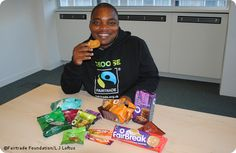 Sugar farmer Masauko Khembo, from Kasinthula Cane Growers in Malawi, while visiting the UK during Fairtrade Fortnight 2012. Kasinthula supplies sugar for a range of Traidcraft products.