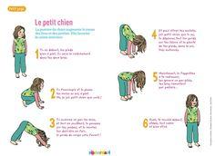 Yoga enfant Pomme d'Api chien Posture bébé