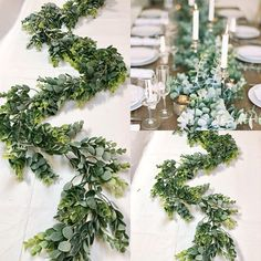 Featuring realistic looking succulent artificial silver eucalyptus stems , this garland is perfect for hanging over doorways, on tables, and as weddings swag. Hang it up to incorporate some nature into your event!This is a Beautiful faux Garland, created with eucalyptus greenery