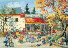 Voici! mon inspiration de Novembre 2013. La Peintre Française Pauline T. Paquin.  Très colorée , Créative et détaillée avec ses toiles d'Enfants à la campagne  Vraiment inspirante!!  :)  Merci! Marie-josée