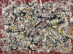 """Mural on Indian red ground"" by Jackson Pollock"