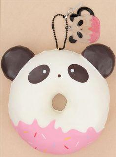 Puni Maru squishy ciambella panda orecchie nere Puni Maru