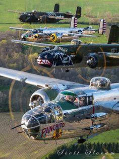 Great stack of Mitchells Aircraft - Aircraft art - Aircraft design - vintage Aircraft - Source Ww2 Aircraft, Fighter Aircraft, Military Aircraft, Fighter Jets, Photo Avion, Airplane Art, Ww2 Planes, Vintage Airplanes, Aircraft Design