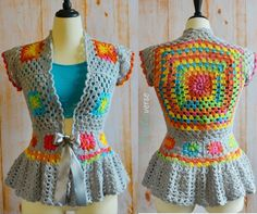 What a beautiful and feminine crochet jacket! A must have, this is the type that will get you noticed wherever you go! Like the designer says, wearing this Garden Party Jacket by Stephanie Pokorny you'll be the sweetest flower in the bunch! Wearing this pretty and tailored well to your body, this flowery granny square …