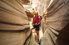 Hard-core canyoneers descend into Blue John Canyon in Canyonlands National Park. For beginners and families, though, Kanarra Creek Canyon outside Kanarraville and Zion National Park is a great place to start. (Photo: Zion Adventure Company)