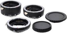 Amazon.com : Xit XTETC Auto Focus Macro Extension Tube Set for Canon SLR Cameras (Black) : Camera Lens Extension Tubes : Camera & Photo