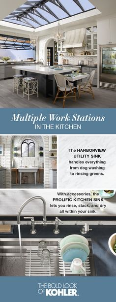 With multiple work stations, meal-making can be a communal experience. Explore the Garden's Edge Kitchen.