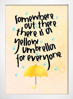 Poster Yellow Umbrella - How I Met Your Mother - comprar online andrew raynor