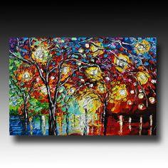 Modern Palette Knife Painting $700 etsy