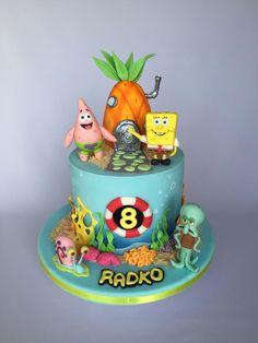 Spongebob birthday cake by Layla A - Birthday Cake Flower Ideen Angry Birds Birthday Cake, Spongebob Birthday Party, Video Game Cakes, Sugar Free Peanut Butter, Cake Decorating Tutorials, Cakes For Boys, Celebration Cakes, Themed Cakes, Party Cakes