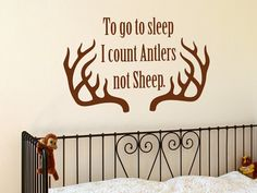 I count Deer Antlers not Sheep  Medium Size 14x23 by WallJems, $16.99