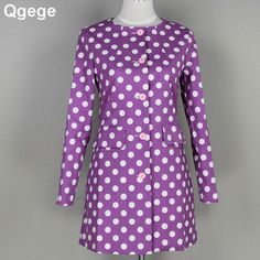 autumn women coat Casual female outerwear basic jacket Long Sleeve o-neck candy cfeminolor polka dot outerwear coats