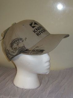 a9e07d6e7ef Dri Duck Men s Tan Knife River Bass Fish One Size Adjustable Hat Cap NWT   AS15. Baseball hat.