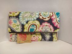 Fold Over Clutch Paisly Purse Clutch Bag Handbag by BallyandLis, $22.00