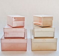 I need these rose gold boxes for my office!