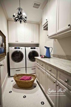 Laundry Room and a Chandy www.cedarhillfarmhouse