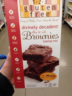 Finally, egg-free peanut-free and tree nut-free brownie mix! Found at Meijer in the gluten free aisle. Cost $7. Made in allergy-free facility.