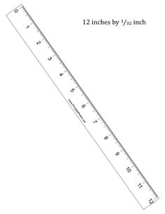This printable 30 cm ruler has centimeter and millimeter