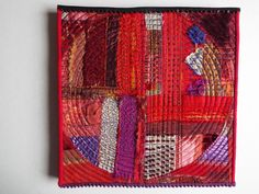 Red Art Quilt Fiber Art Wall Hanging non-traditional by jill2day