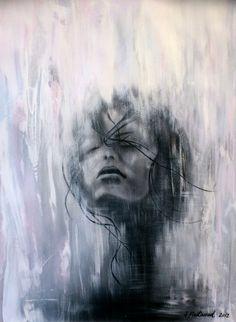 """Saatchi Online Artist: Sophia Fleetwood; Paper, 2012, Mixed Media """"RAIVEUSE"""""""