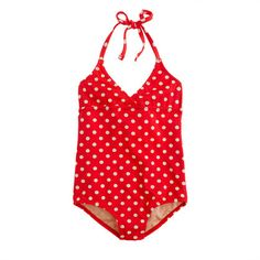 Girls' string halter tank in polka dot | J. Crew $49.50 #summerofbabyletto
