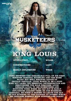 Meet King Louis (Ryan Gage) - The Musketeers.