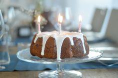 Bundt Cake raspberries and limoncello for birthday