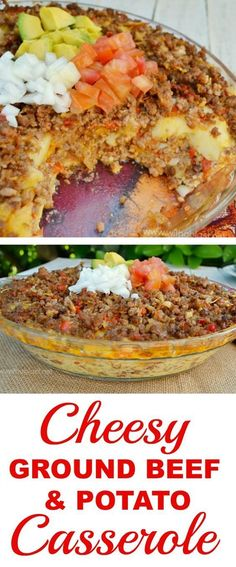 Layers of Potato, Beef, Cheese and more in this easy comfort food recipe