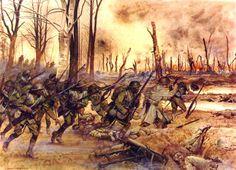 Meusse -Argonne,26 de septiembre-1 de octubre de 1918.El 369 regimiento de infantería luchó valientemente en la ofensiva de Champagne como parte de la 161ª división francesa.La infantería del 369 ataco detrás de una barrera de fuego sucesivas trincheras alemanas y capturo la ciudad de Ripont.Contra una resistencia determinada,el 369 avanzó por el norte de las alturas del rió Dormoise y encabezó el ataque hacia la ciudad de Sechault,capturando seis cañones y gran numero de ametralladoras
